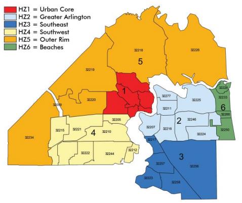 Jax Fl Zip Code Map.Health Zones Keepin It Simple Jacksonville